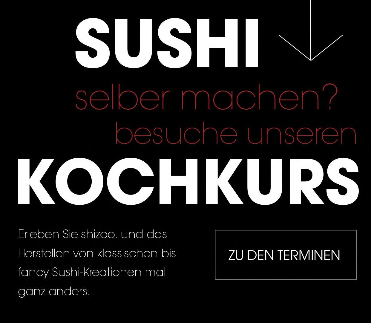shizoo. Sushi Lieferservice München Sushi Kochkurse München