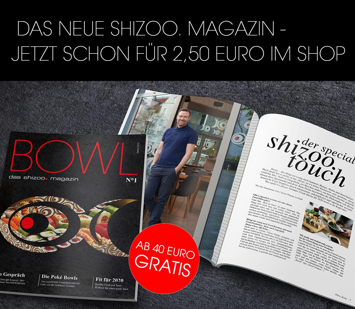 BOWL - das neue shizoo. Sushi Magazin